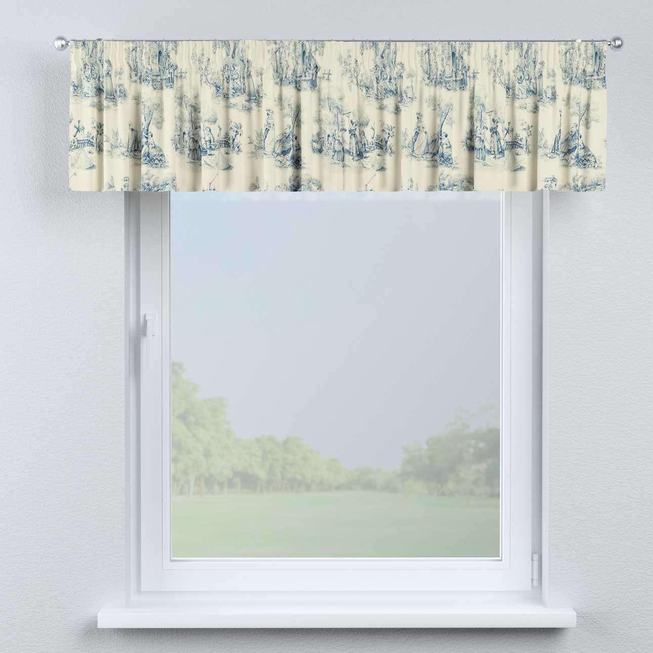 Gardinkappe med rynkebånd 130 x 40 cm fra kollektionen Avinon, Stof: 132-66