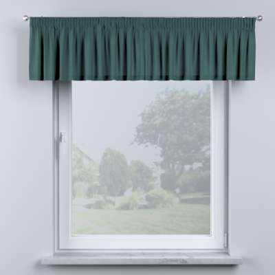 Lambrequin with gathering tape 159-09 emerald green Collection Nature
