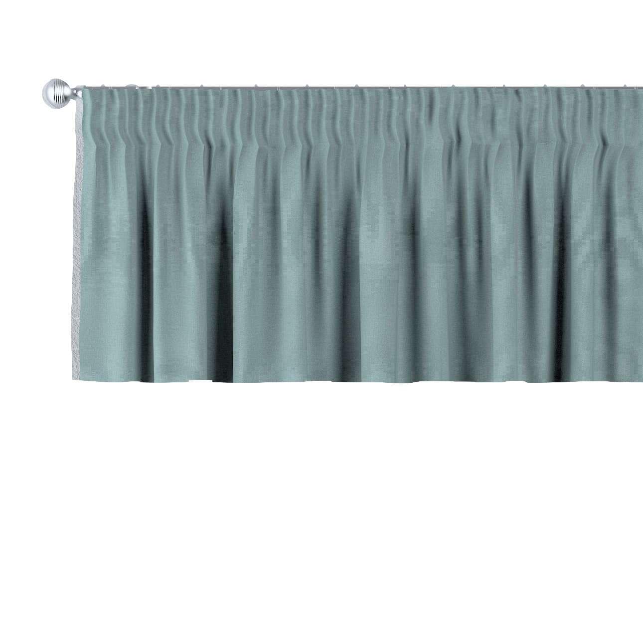 Krátky záves na riasiacej páske V kolekcii Cotton Panama, tkanina: 702-40