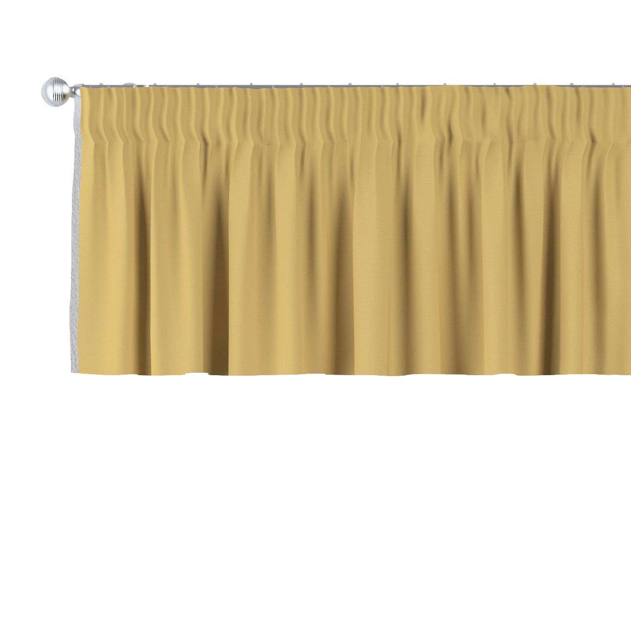Krátky záves na riasiacej páske V kolekcii Cotton Panama, tkanina: 702-41