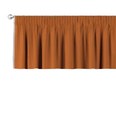 Kurzgardine mit Kräuselband 702-42 Karamell Kollektion Cotton Panama