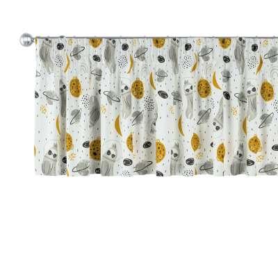 Schabracke mit Kräuselband 500-44 weiß-grau Kollektion Magic Collection