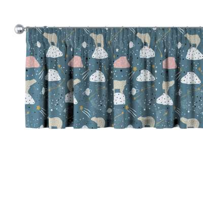 Lambrequin with gathering tape 500-45 blue Collection Magic Collection