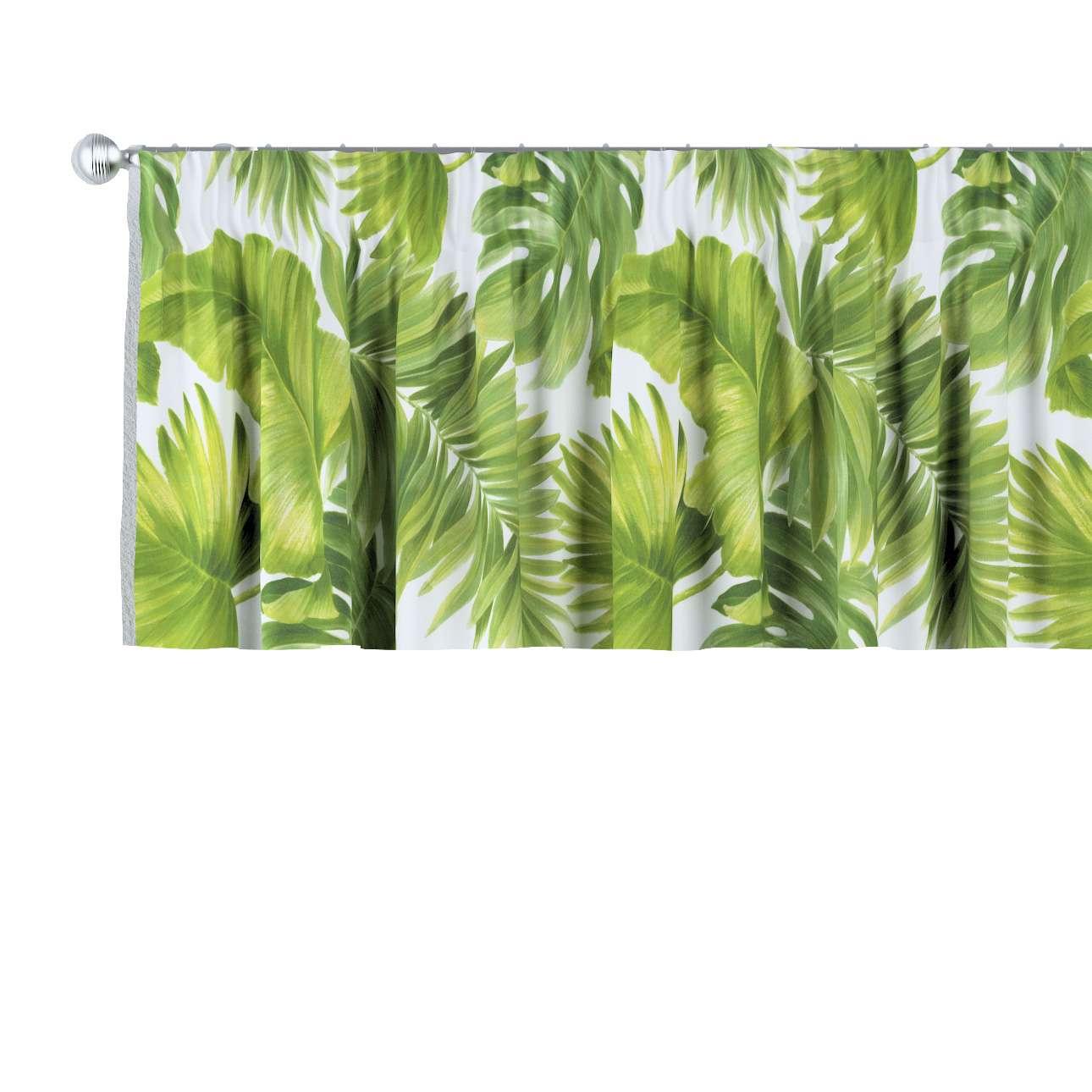 Lambrekin na taśmie marszczącej w kolekcji Tropical Island, tkanina: 143-63