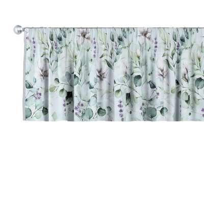 Gardinkappe med rynkebånd og løpegang H40cm 143-66 Naturhvit med pint Magnolie Kolleksjon Flowers