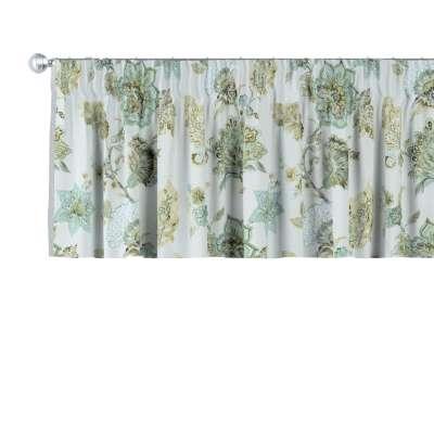 Pencil pleat pelmet 143-67 beige- green Collection Flowers