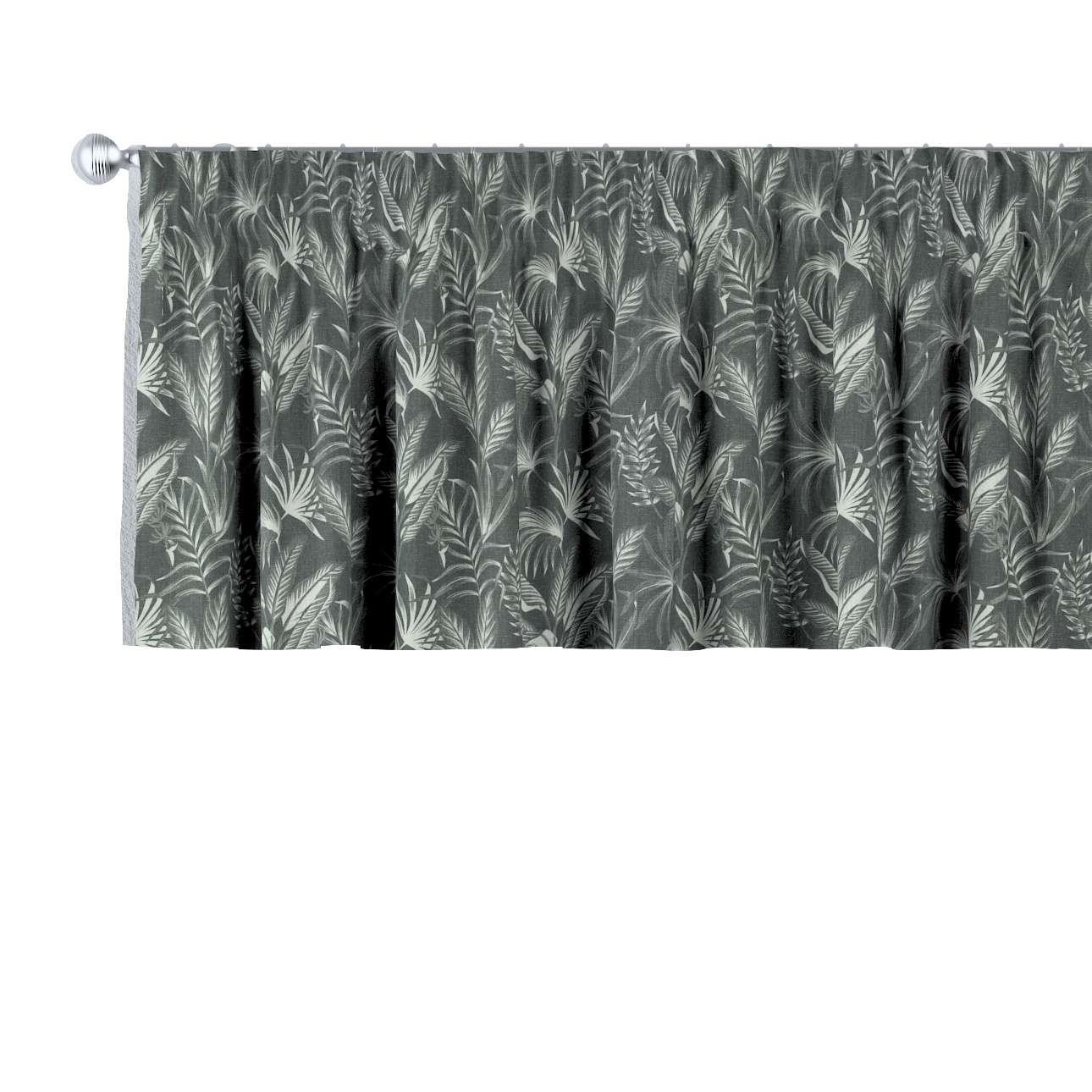 Krátky záves na riasiacej páske V kolekcii Flowers, tkanina: 143-73