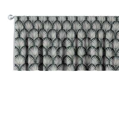 Pencil pleat pelmet 143-74 grey patterns on a black background Collection Comics/Geometrical
