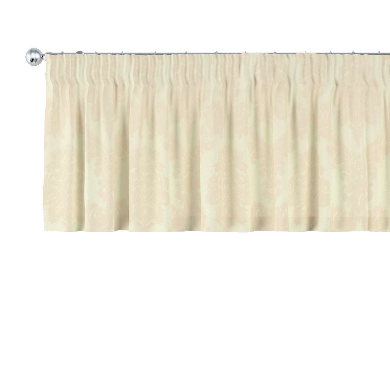 Krátky záves na riasiacej páske V kolekcii Damasco, tkanina: 613-01
