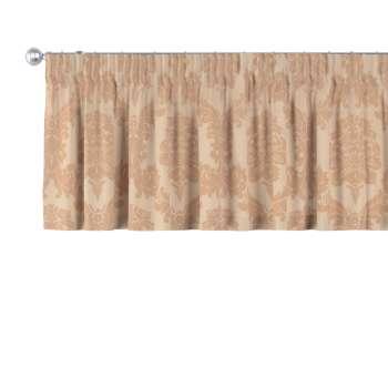 Gardinkappa med rynkband 130 × 40 cm i kollektionen Damasco, Tyg: 613-04