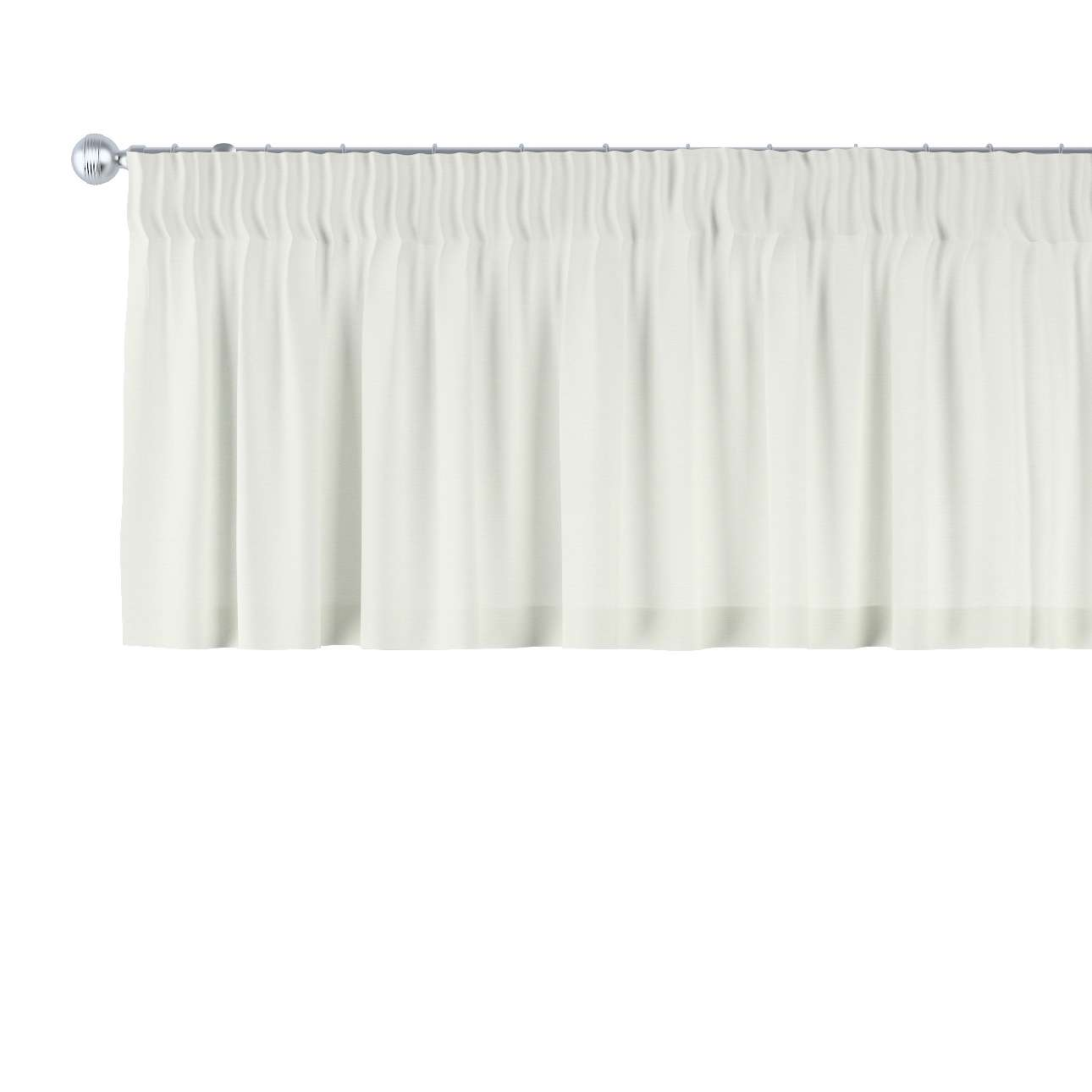 Gardinkappe med rynkebånd 130 x 40 cm fra kolleksjonen Jupiter, Stoffets bredde: 127-00
