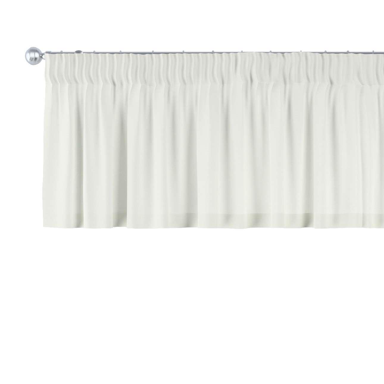 Krátky záves na riasiacej páske V kolekcii Jupiter, tkanina: 127-00