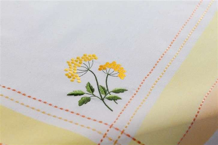 Mitteldecke Sonnenblume  85x85