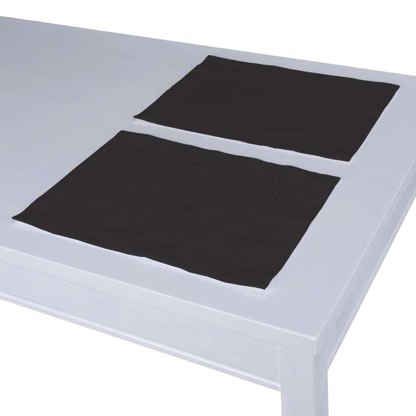 Tischset 2 Stck., Shadow grey, 30 × 40 cm, Cotton Panama | Heimtextilien > Tischdecken und Co | Dekoria
