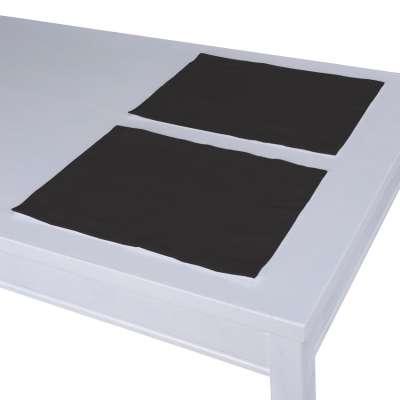 Stalo servetėlės/stalo padėkliukai – 2 vnt. 702-08 grafito pilka su rudumo atspalviu Kolekcija Cotton Panama