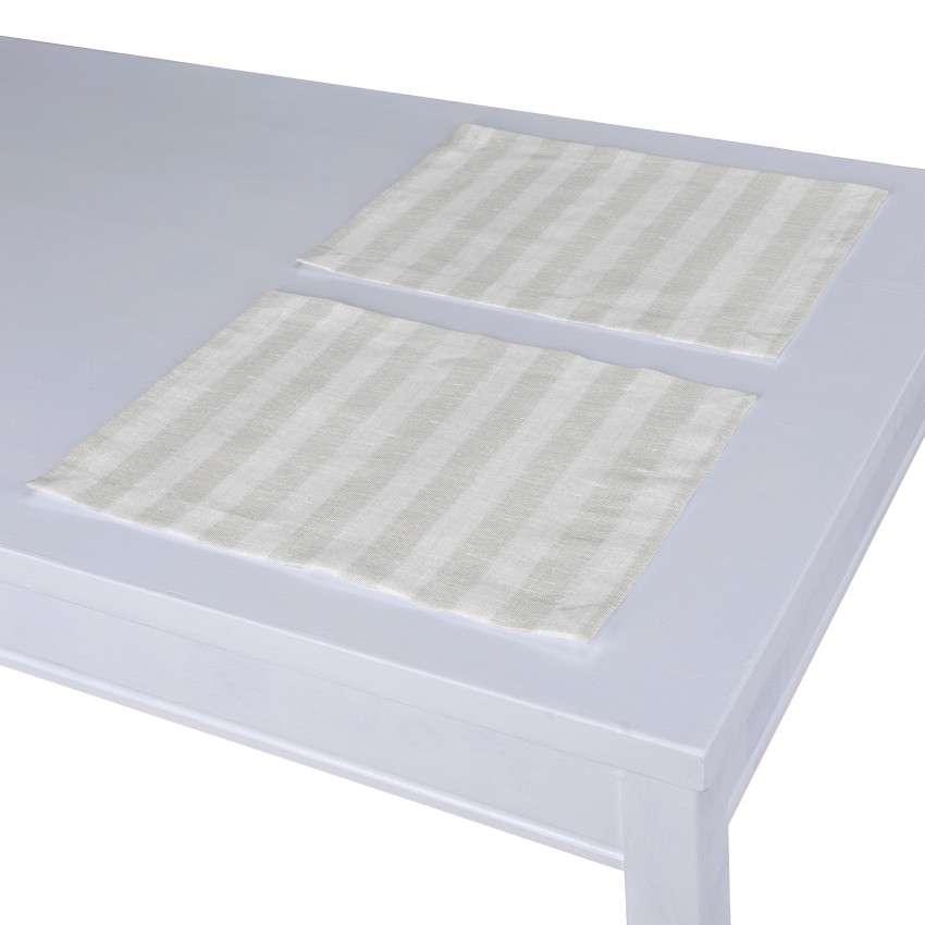 Tischset 2 Stck. 30 x 40 cm von der Kollektion Leinen, Stoff: 392-03