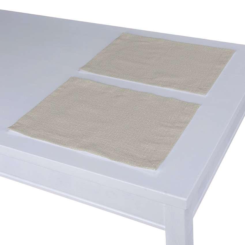 Podkładka 2 sztuki 30x40 cm w kolekcji Linen, tkanina: 392-05