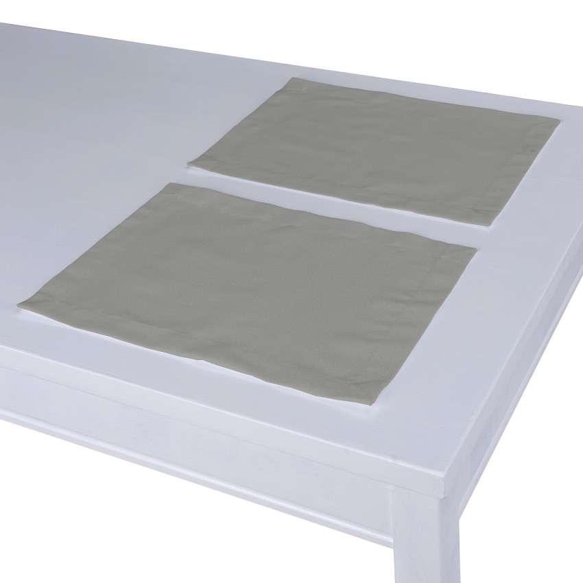 Tischset 2 Stck., grau, 30 × 40 cm, Loneta | Heimtextilien > Tischdecken und Co > Tisch-Sets | Dekoria