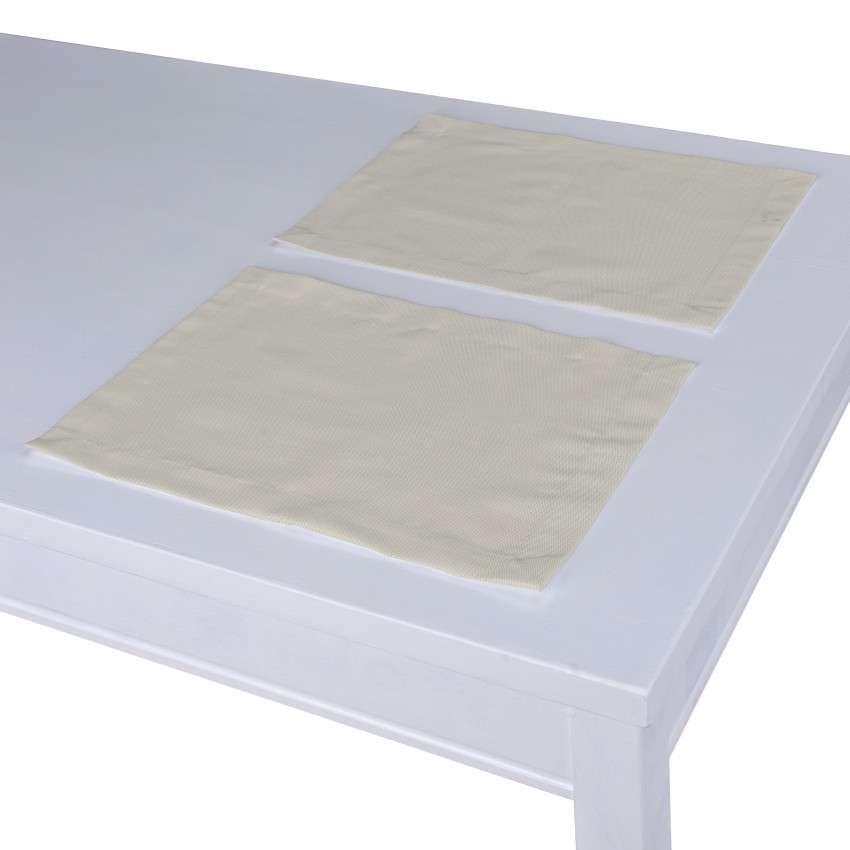Spisebrikker 2 stk. fra kolleksjonen Cotton Panama, Stoffets bredde: 702-31