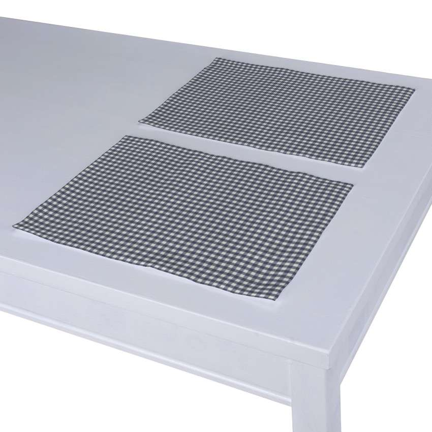 Podkładka 2 sztuki 30x40 cm w kolekcji Quadro, tkanina: 136-00