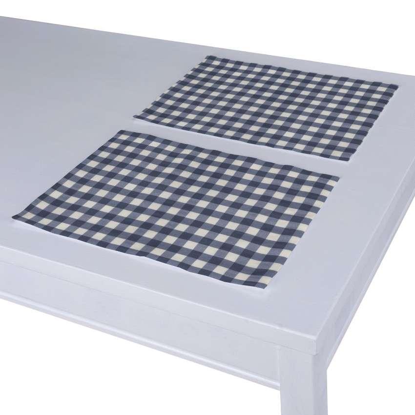Podkładka 2 sztuki 30x40 cm w kolekcji Quadro, tkanina: 136-01