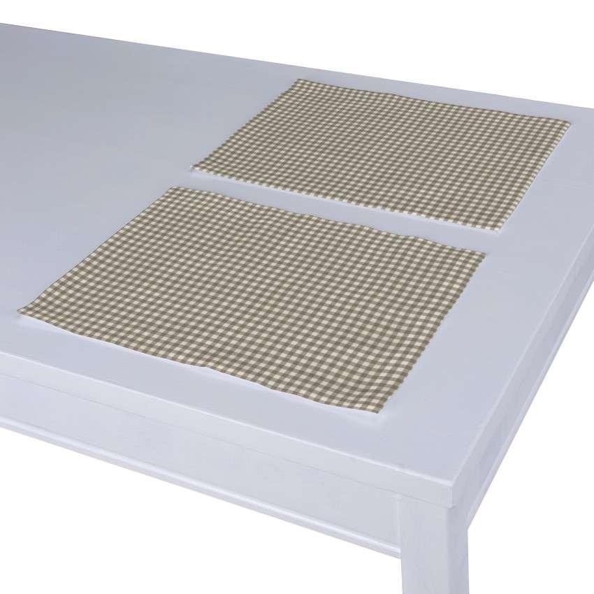 Tischset 2 Stck. 30 x 40 cm von der Kollektion Quadro, Stoff: 136-05