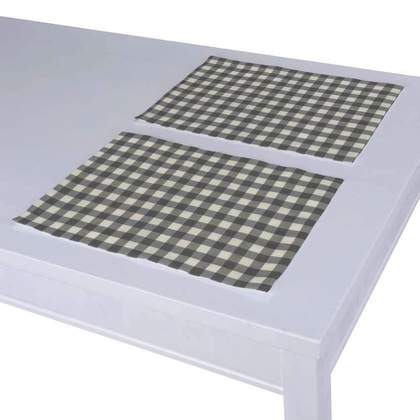Podkładka 2 sztuki 30x40 cm w kolekcji Quadro, tkanina: 136-11