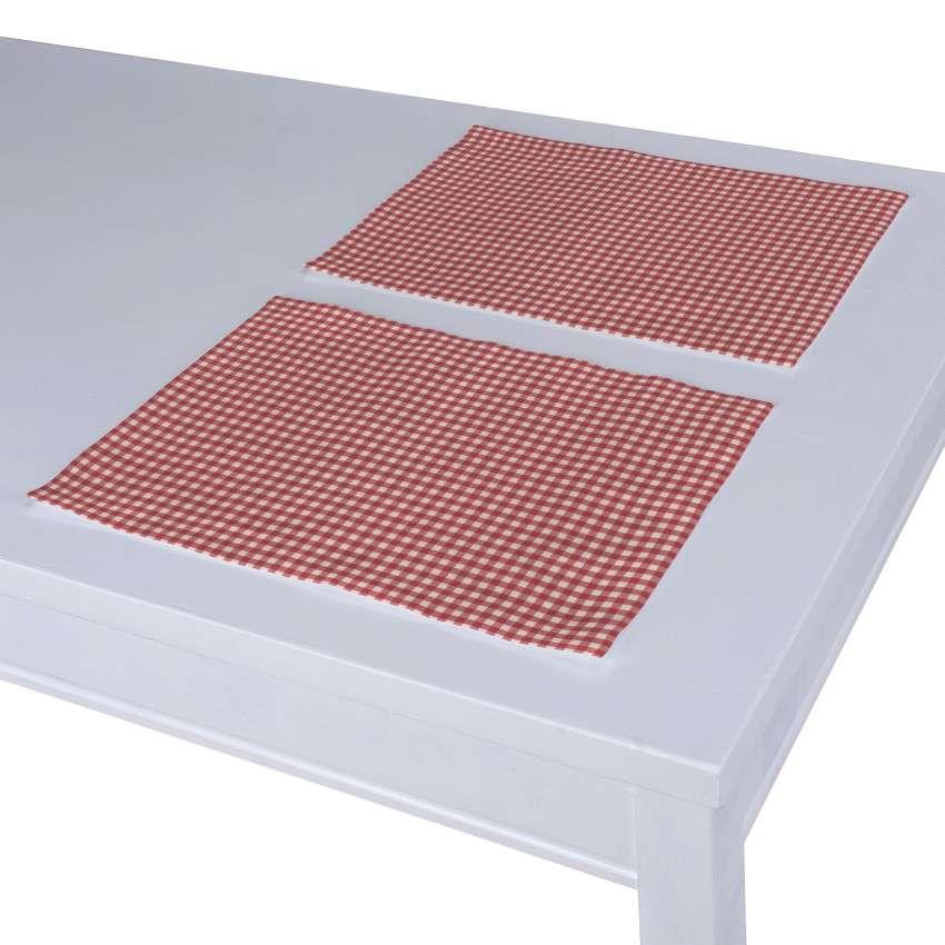 Tischset 2 Stck. 30 x 40 cm von der Kollektion Quadro, Stoff: 136-15