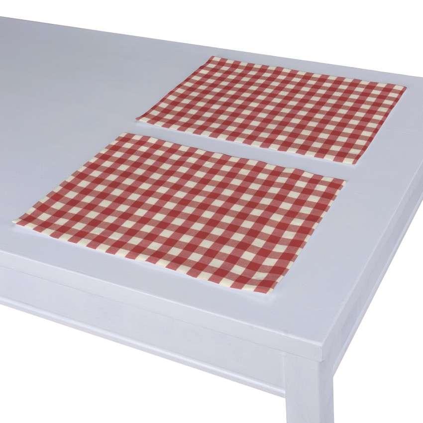 Stalo servetėlės/stalo padėkliukai – 2 vnt. 30 x 40 cm kolekcijoje Quadro, audinys: 136-16