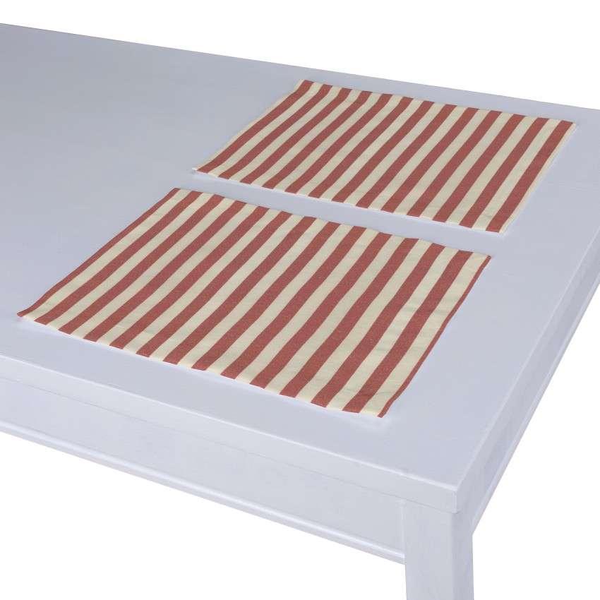Podkładka 2 sztuki 30x40 cm w kolekcji Quadro, tkanina: 136-17