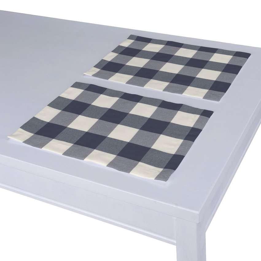 Tischset 2 Stck. 30 x 40 cm von der Kollektion Quadro, Stoff: 136-03