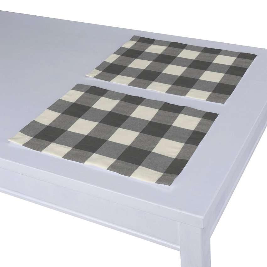 Stalo servetėlės/stalo padėkliukai – 2 vnt. 30 x 40 cm kolekcijoje Quadro, audinys: 136-13