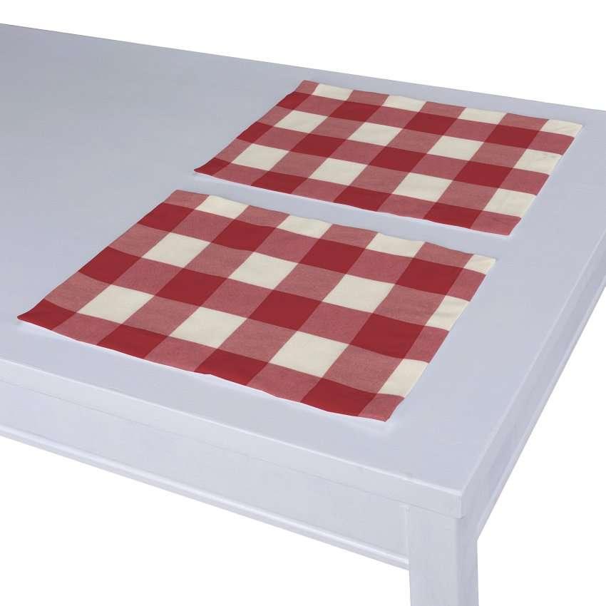 Stalo servetėlės/stalo padėkliukai – 2 vnt. 30 x 40 cm kolekcijoje Quadro, audinys: 136-18