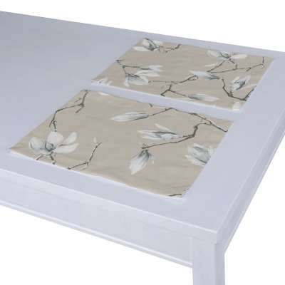 Placemat (set of 2) 311-12 white magnolias on beige backgound Collection Flowers