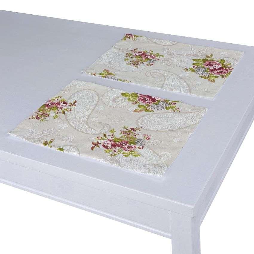 Tischset 2 Stck. 30 x 40 cm von der Kollektion Flowers, Stoff: 311-15