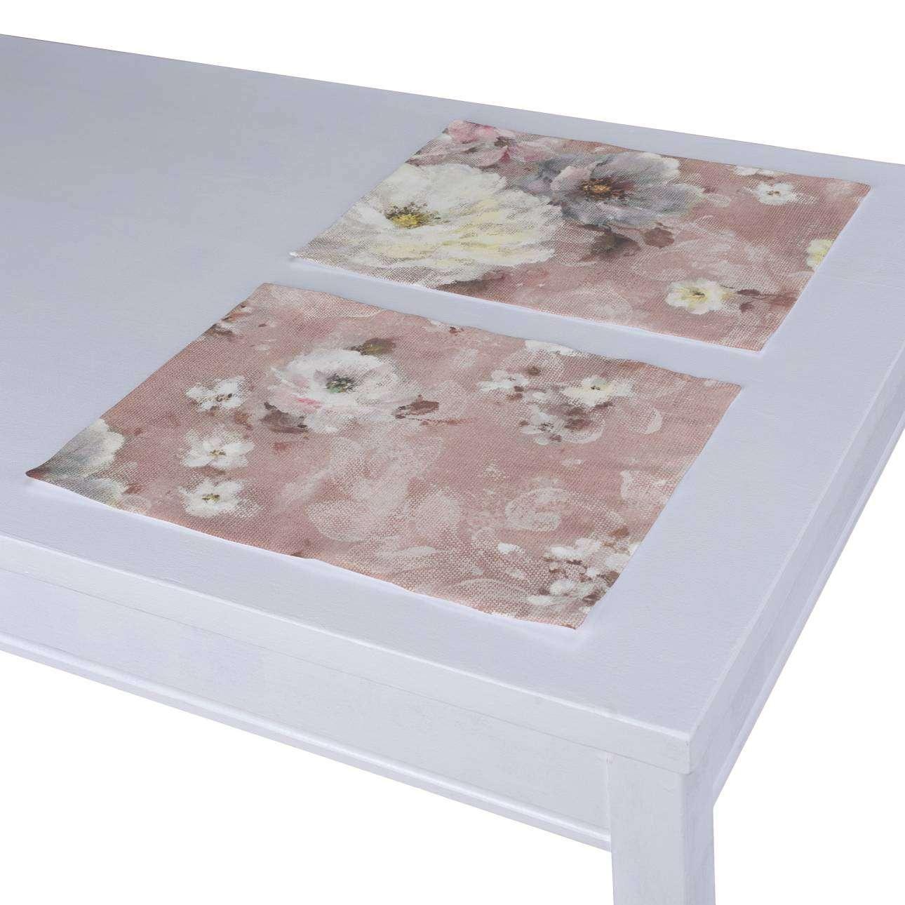 Dækkeservietter 2 stk. fra kollektionen Monet, Stof: 137-83