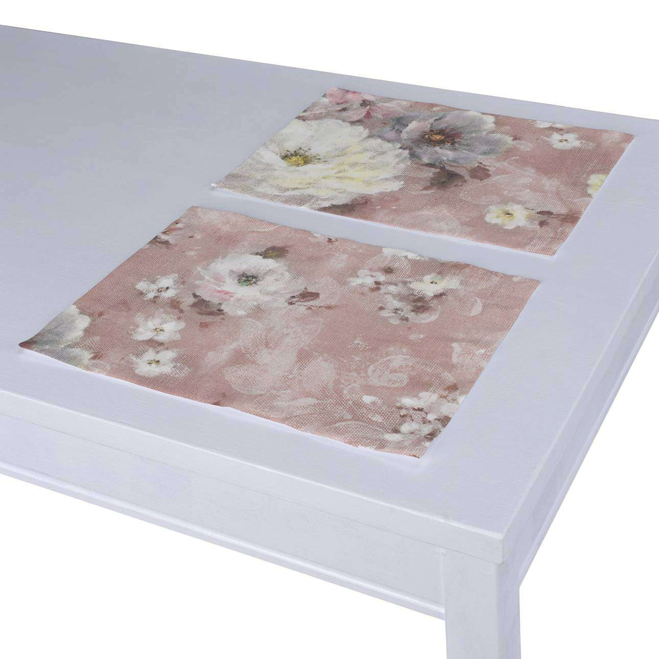 Spisebrikker 2 stk. fra kolleksjonen Monet , Stoffets bredde: 137-83