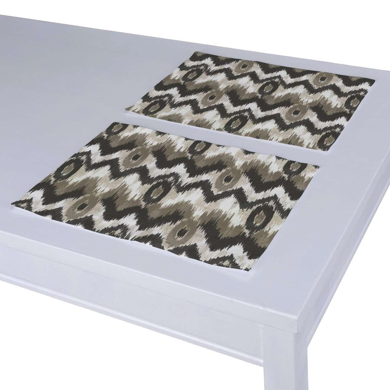 Tischset 2 Stck., schwarz-beige, 30 × 40 cm, Modern | Heimtextilien > Tischdecken und Co > Tisch-Sets | Dekoria