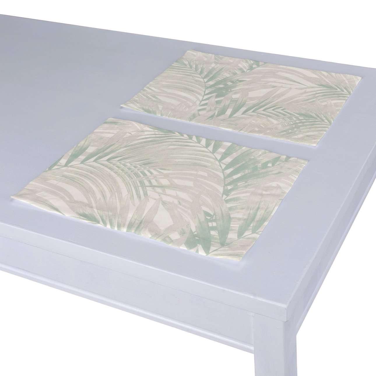 Tischset 2 Stck., weiß-grün, 30 × 40 cm, Gardenia | Heimtextilien > Tischdecken und Co > Tisch-Sets | Dekoria