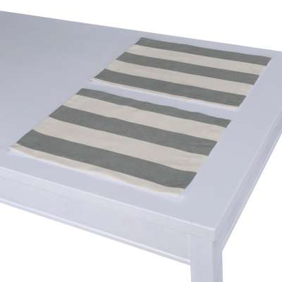 Placemat (set of 2) 142-71 grey and white stripes (5.5cm) Collection Quadro