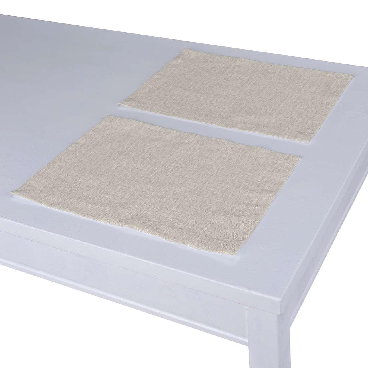 Podkładka 2 sztuki w kolekcji Linen, tkanina: 159-07