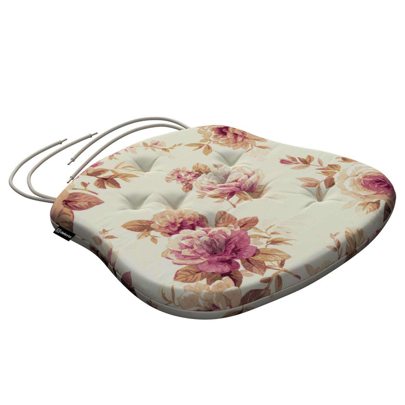 Siedzisko Filip na krzesło 41x38x3,5 cm w kolekcji Mirella, tkanina: 141-06