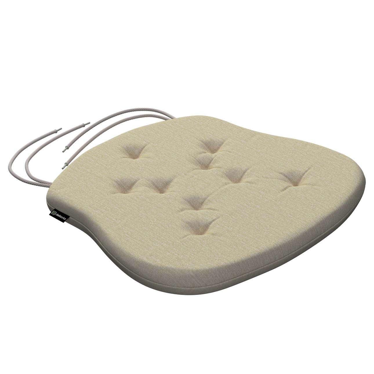 Siedzisko Filip na krzesło 41x38x3,5 cm w kolekcji Chenille, tkanina: 702-22