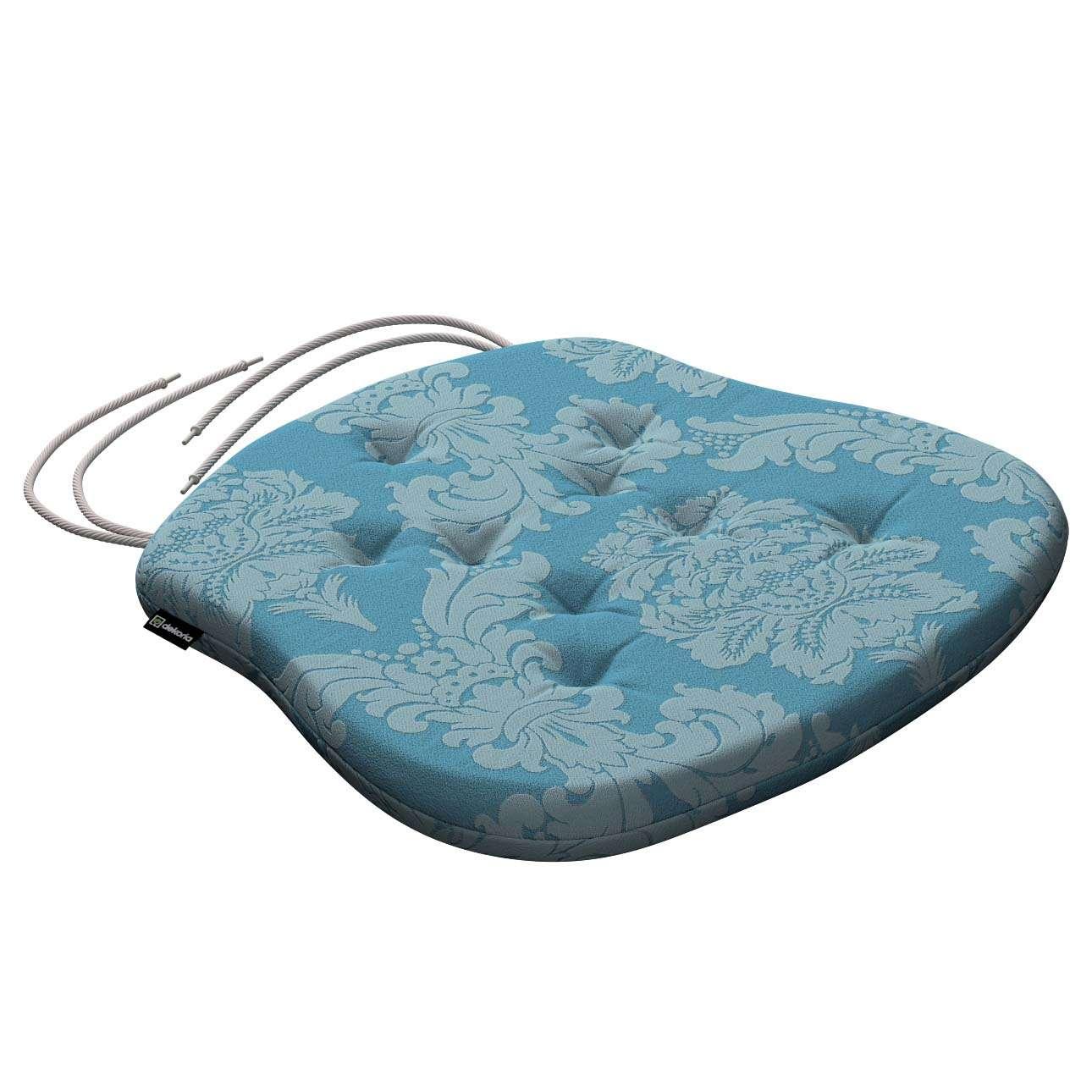 Siedzisko Filip na krzesło 41x38x3,5 cm w kolekcji Damasco, tkanina: 613-67