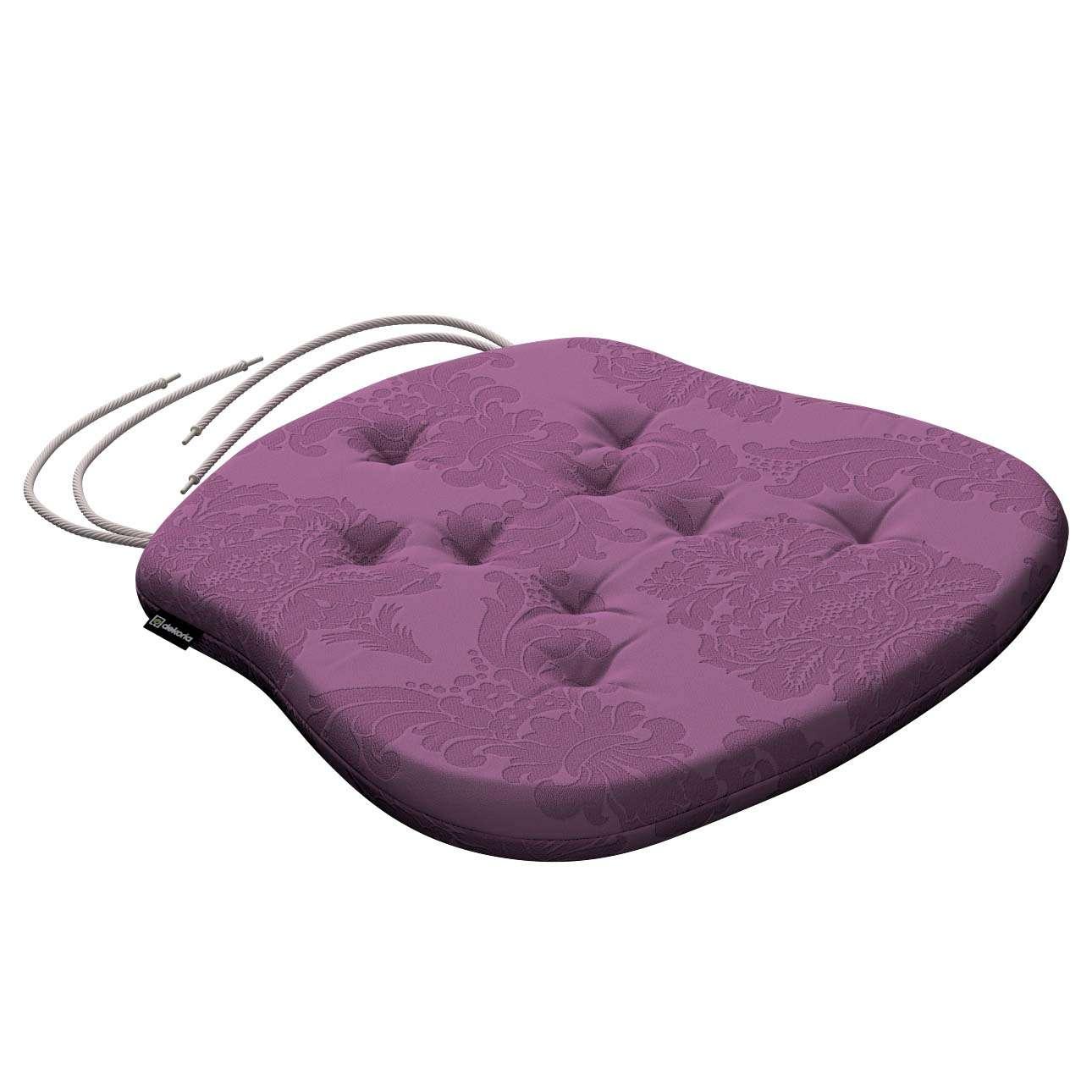 Siedzisko Filip na krzesło 41x38x3,5 cm w kolekcji Damasco, tkanina: 613-75