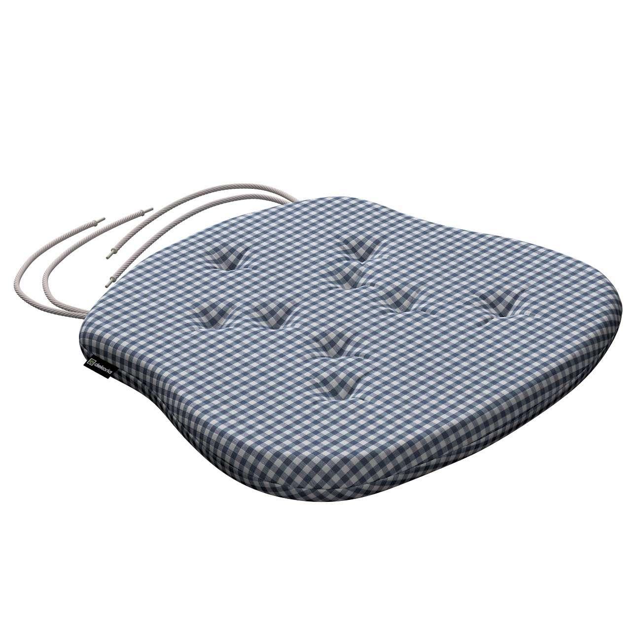Siedzisko Filip na krzesło 41x38x3,5 cm w kolekcji Quadro, tkanina: 136-00