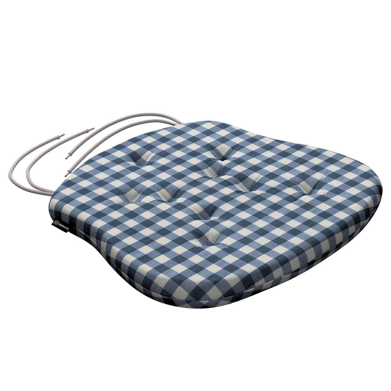 Siedzisko Filip na krzesło 41x38x3,5 cm w kolekcji Quadro, tkanina: 136-01