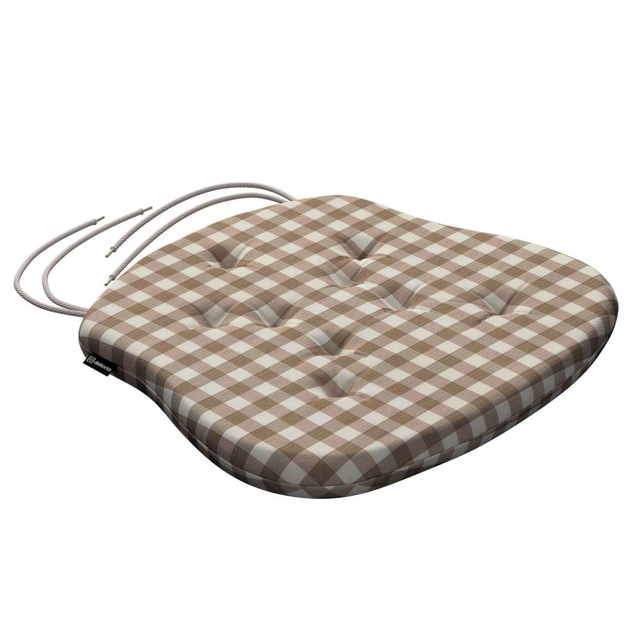 Siedzisko Filip na krzesło 41x38x3,5 cm w kolekcji Quadro, tkanina: 136-06