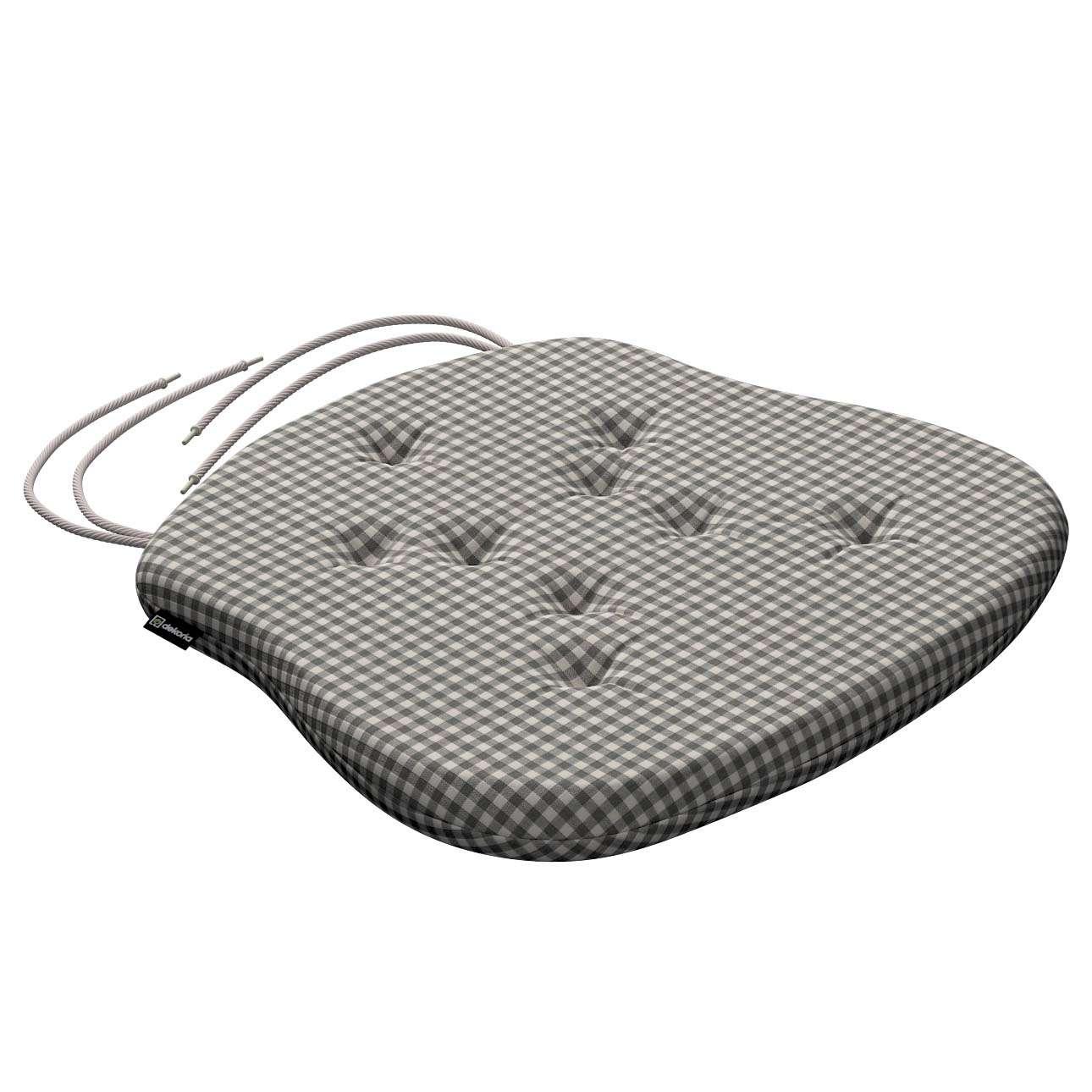 Siedzisko Filip na krzesło 41x38x3,5 cm w kolekcji Quadro, tkanina: 136-10