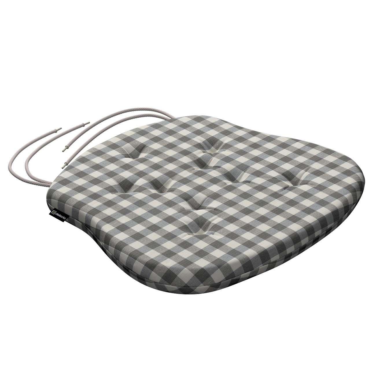 Siedzisko Filip na krzesło 41x38x3,5 cm w kolekcji Quadro, tkanina: 136-11